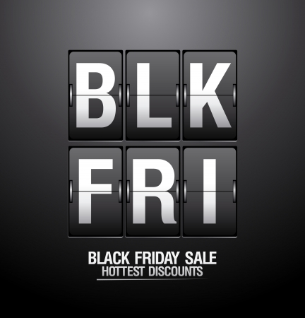 Black friday sale, analog flip clock design