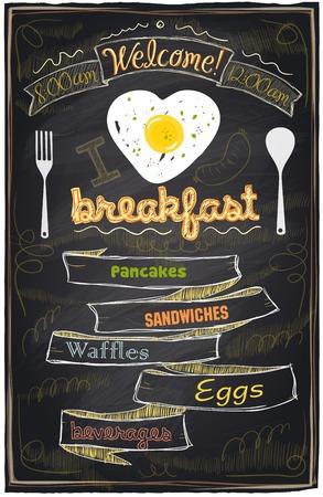 Chalk breakfast menu. I love breakfast.