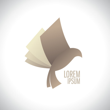 Ilustración de Flying book like bird logo, education concept, book store - Imagen libre de derechos