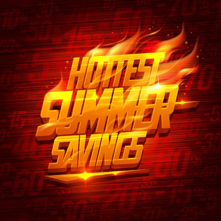 Hottest summer savings, original sale design