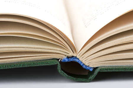 open old book isolated on the white background