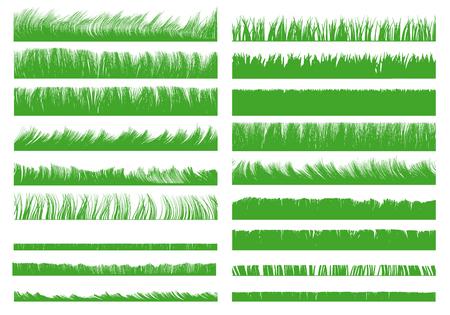 Illustration pour Set with realistic contours of grass. Vector illustration. - image libre de droit