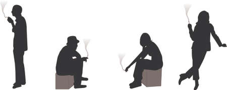 smoking silhouettes