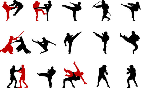 martial arts illustrations