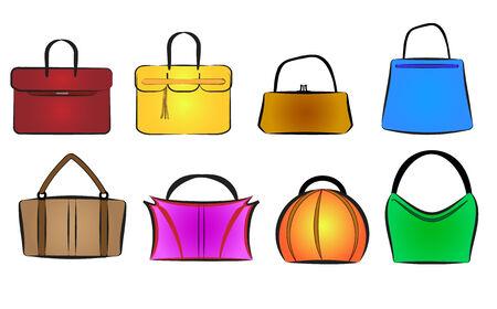 Illustration pour bags and purses vector illustration set - image libre de droit