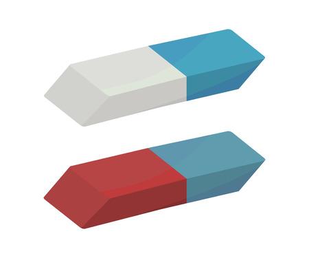 Illustration pour Rubber erasers - image libre de droit
