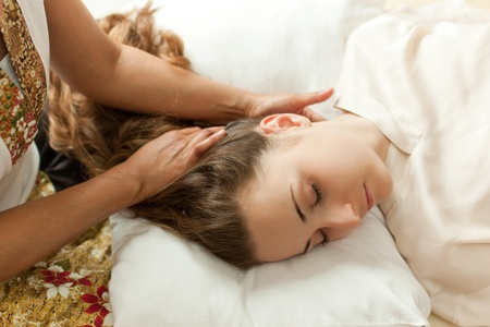 thai massage of young girl