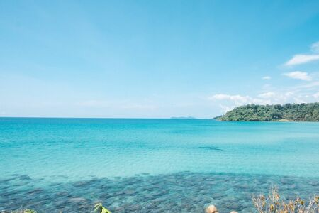 Photo for seascape views. the clear skies with beautiful clouds. Suitable for tourism recreation. At Ko Kood, Trat province, Thailand. - Royalty Free Image