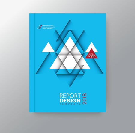 Abstract geometric triangular polygon corporate background for business annual report book cover brochure flyer poster