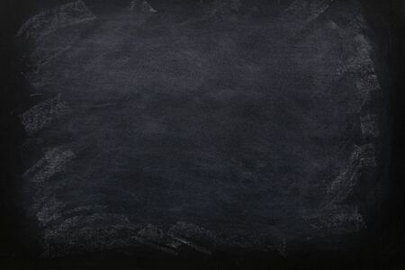 Foto de Blank chalkboard for black background texture concept for education. blackboard is a reusable writing surface on which text or drawings are made. is also used to create custom chalkboard art. - Imagen libre de derechos
