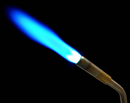 This a MAPP gas torch shot in the dark to capture blue flame
