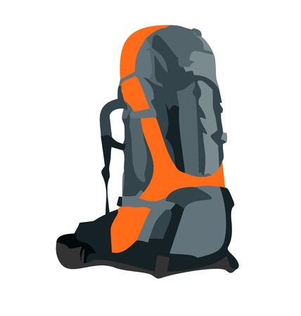 Illustration pour Realistic illustration of tourism backpack  - image libre de droit