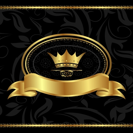 Illustration for Illustration royal background with golden frame - vector - Royalty Free Image