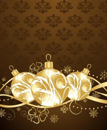 Illustration beautiful Christmas background - vector