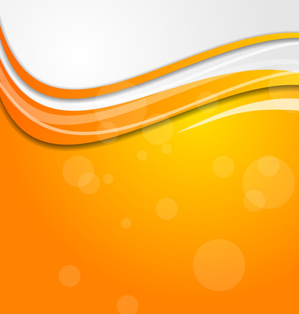 Illustration abstract bright orange background with circles