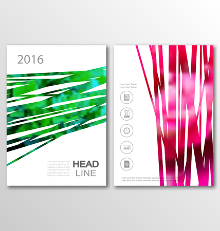 Illustration Brochure Flyer Template A4 Size Design, Cover of Book Design, Abstract Presentation Templates - Vector