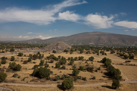 Teotihuacan - famous aztec pyramids of Sun and Moon near by Mexico city