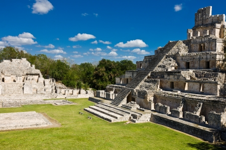 Famous Mayan city Edzna near by Campeche Mexico