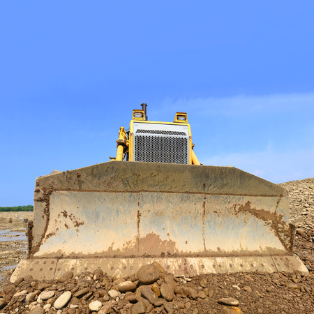 The bulldozer on a building site