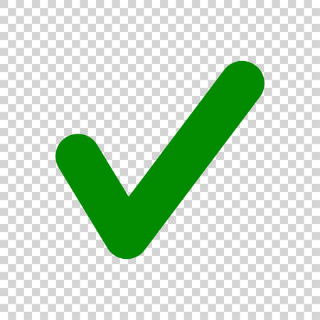 Illustration pour Green Check Mark icon isolated on transparent background - image libre de droit