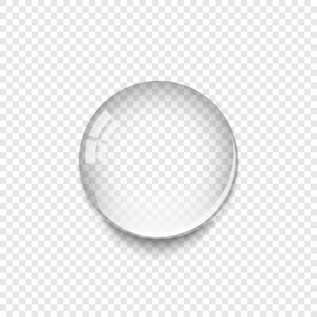 Illustration pour Realistic Water Drop with shadow isolated on transparent background. Water drop icon. - image libre de droit