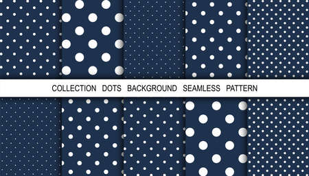 Illustration pour Dots. Dots background. Background pattern. White dot on blue background. Polka design. Winter. Snow. Vector illustration - image libre de droit