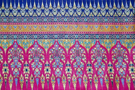 Pattern style Thai Silk culter the north of Thailand.