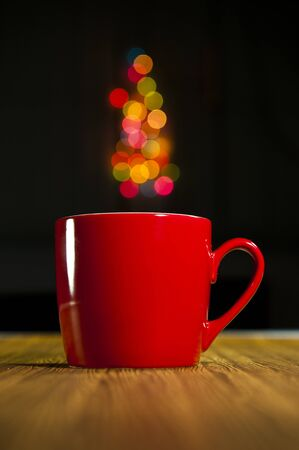 A cup with bokeh