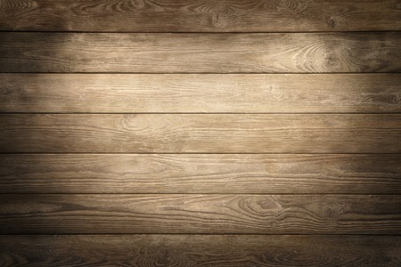 Photo pour Elegant wood planks background nicely illuminated with spotlights to draw the attention - image libre de droit