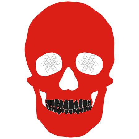 Human red skeleton icon