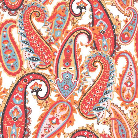 Illustration pour Abstract paisley background, textile print. - image libre de droit