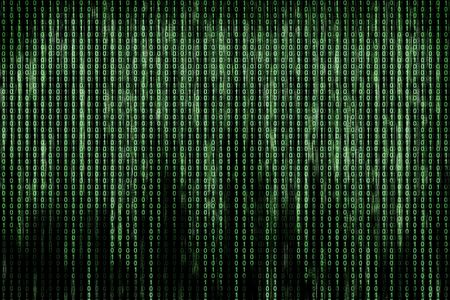 green matrix background computer generated