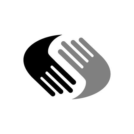 Illustration pour Helping Hands Vector Symbol Graphic Logo Design - image libre de droit