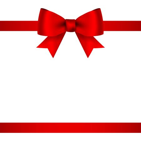 Illustration pour Red bow for gift and greeting card isolated on white - image libre de droit