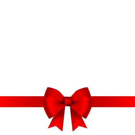 Illustration pour Red bow for gift and greeting card isolated on white background - image libre de droit