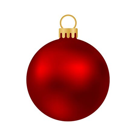 Illustration pour Red Christmas ball isolated on white - image libre de droit