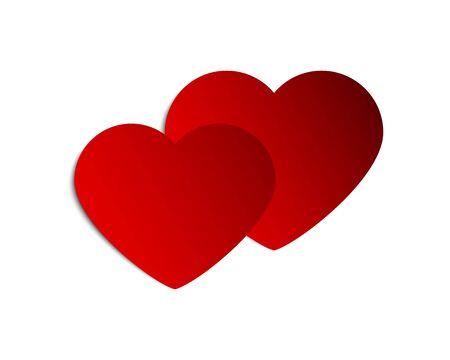 Illustration pour Banner hearts for Valentine s day greeting - image libre de droit