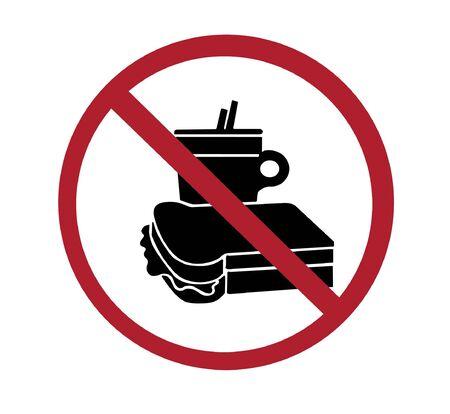 sign - no food or drink