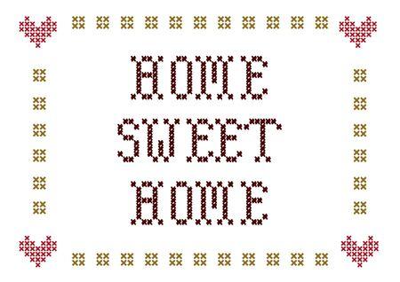 Photo pour home sweet home embroidery - image libre de droit