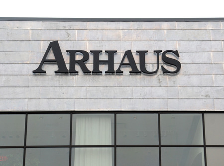 ANN ARBOR, MI - AUGUST 24: Arhaus, whose Ann Arbor store logo is shown on August 24, 2014, has 53 furniture stores in the eastern United States.