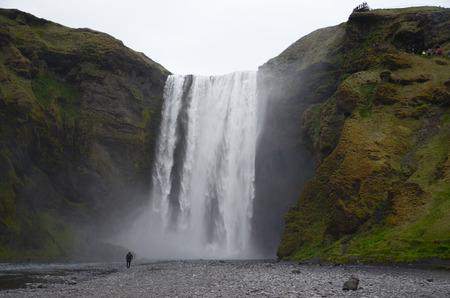 NEAR SKOGAR, ICELAND - JUN 15:  Skogafoss waterfall, shown here on June 15, 2015, was in the film The Secret Life of Walter Mitty in 2013.