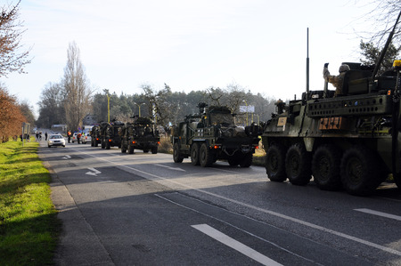 Us army convoy, 27.3.2017, Czech Republic, crossing to Poland from Old Boleslav,