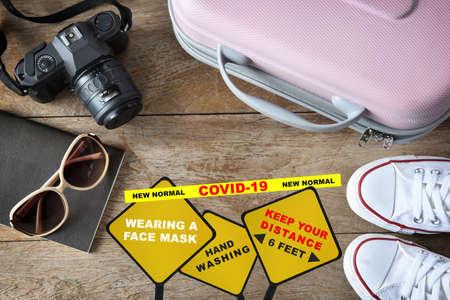 Photo pour Travel in the new normal concept and covid-19 disruption idea. - image libre de droit