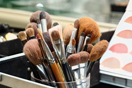 Group of Makeup artist brushes