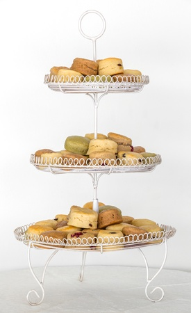Scones for elegance afternoon teatime on Three Tier Serving Tray