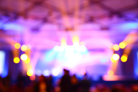 Abstract blurry light in convention event hall