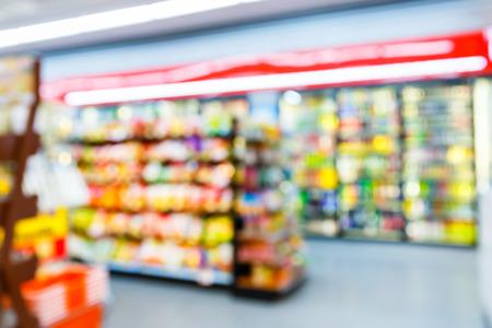 Photo pour Blurred convenience store, lifestyle shopping concept - image libre de droit