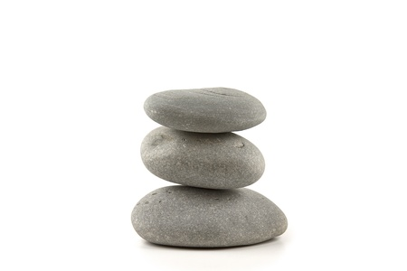 Spa style stacked stones rocks for zen and calmness