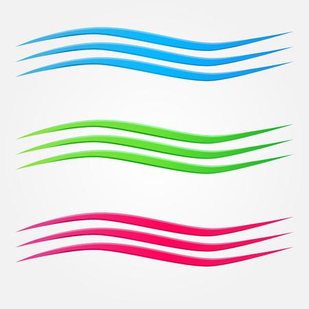 Illustration pour Abstract vector colorful business wave line set - image libre de droit