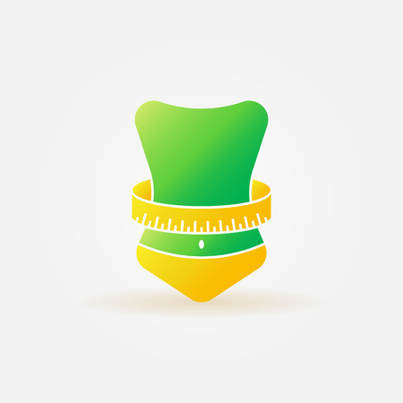 Weight loss icon - vector bright fitness symbol